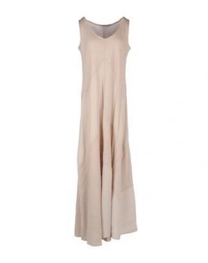 Длинное платье PUROTATTO. Цвет: голубиный серый