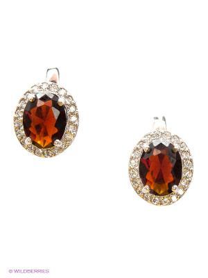 Серьги Lovely Jewelry. Цвет: серебристый, бордовый