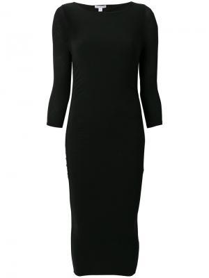 Присборенное спереди платье James Perse. Цвет: чёрный