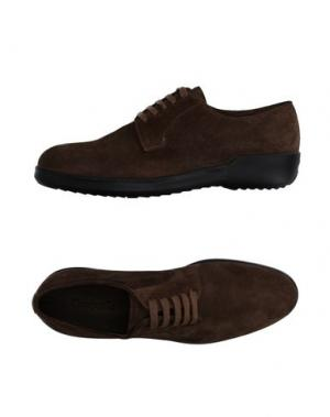 Обувь на шнурках CAMPANILE. Цвет: голубиный серый