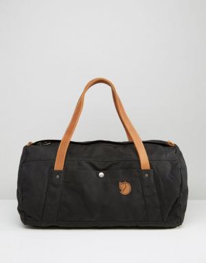 Fjallraven Черная сумка дафл No. 4. Цвет: черный