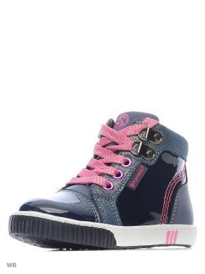 Ботинки Flamingo. Цвет: синий, розовый