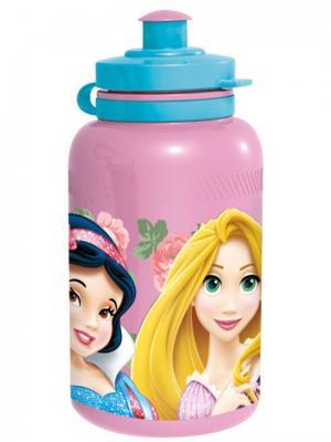 Бутылка пластиковая (спортивная, 400 мл). Принцессы Stor. Цвет: розовый