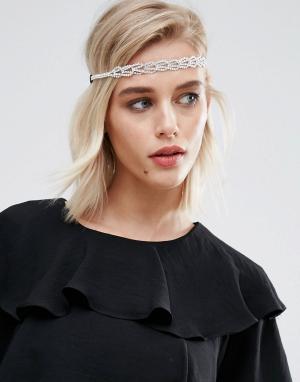 New Look Эластичная повязка на голову. Цвет: белый