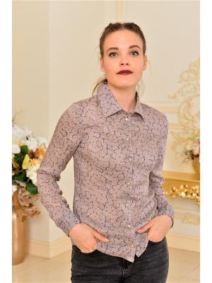 Рубашка Katerina Bleska&Tamara Savin. Цвет: сиреневый, темно-бежевый
