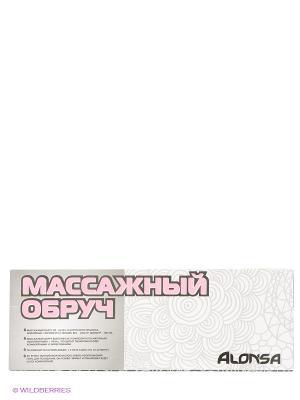 Обруч массажный Alonsa. Цвет: серый, фуксия