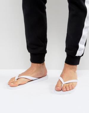 Versace Jeans Белые шлепанцы. Цвет: белый