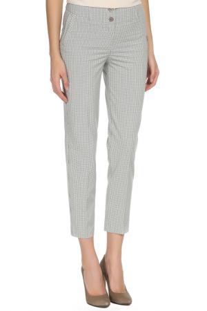 Укороченные брюки с застежкой на молнию YARMINA. Цвет: серый, голубой