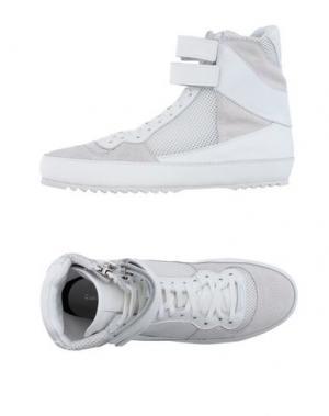 Высокие кеды и кроссовки COSTUME NATIONAL HOMME. Цвет: белый