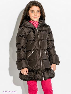 Пальто Bomboogie Kids. Цвет: коричневый