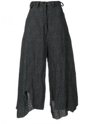 Укороченные асимметричные брюки Barbara Bologna. Цвет: чёрный