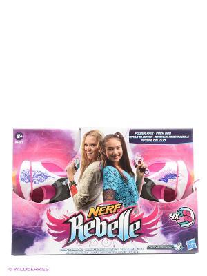 Мини-бластеры Сладкая парочка NERF REBELLE. Цвет: розовый, золотистый, белый, голубой, фиолетовый