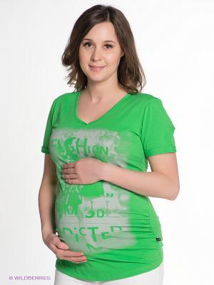 Футболка Love2Wait. Цвет: зеленый, светло-серый