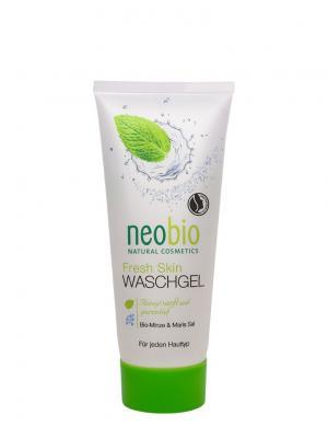 Neobio Fresh skin очищающий гель. Цвет: светло-желтый
