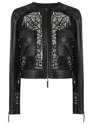 Кожаная куртка Martha Medeiros. Цвет: чёрный