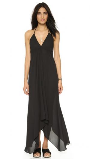 Платье с американской проймой Tbags Los Angeles. Цвет: голубой
