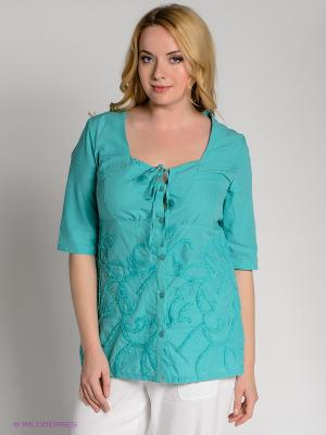 Блузка D`imma. Цвет: бирюзовый