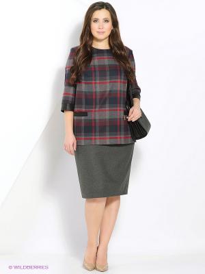 Комплект одежды Amelia Lux. Цвет: серый, бордовый