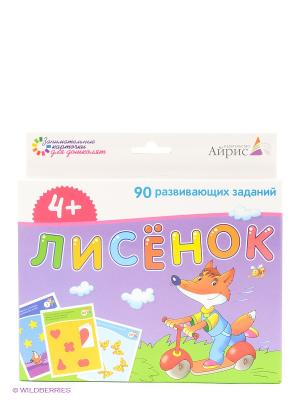 Набор занимательных карточек для дошколят. Лисёнок АЙРИС-пресс. Цвет: фиолетовый, белый