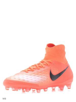 Бутсы MAGISTA ORDEN II AG-PRO Nike. Цвет: оранжевый