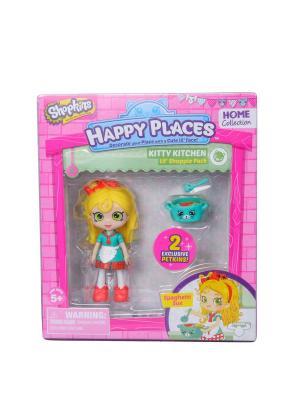 Набор фигурок Happy Places Петкинс с куклой Shoppie Спагетти Сью Moose. Цвет: розовый