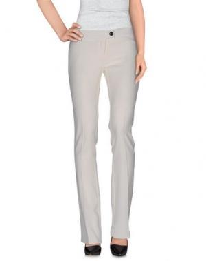 Повседневные брюки LIST. Цвет: слоновая кость