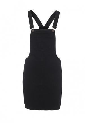 Платье джинсовое Brave Soul. Цвет: черный