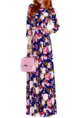 Платье FRANCESCA LUCINI. Цвет: белый, розовая магнолия