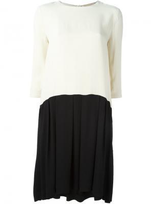 Платье Hannah в стиле колор-блок Erika Cavallini. Цвет: телесный