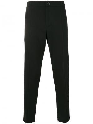 Зауженные укороченные брюки Paolo Pecora. Цвет: чёрный