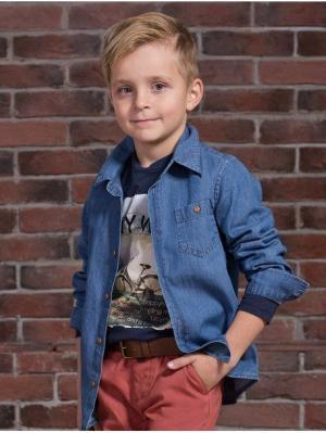 Рубашка Viaggio bambini. Цвет: голубой