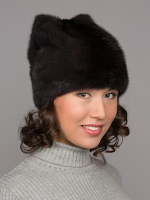 Шапка Slava Furs. Цвет: темно-серый