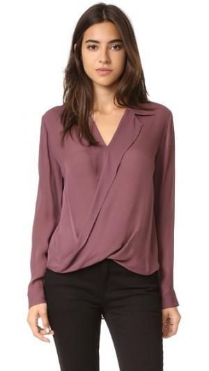 Драпированная блуза Rita L'AGENCE. Цвет: тутовник