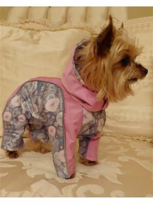 Дождевик для собак (унисекс) LUCKY DOG. Цвет: серый, розовый
