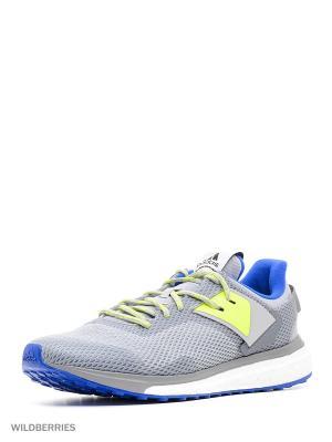 Кроссовки Response 3 m Adidas. Цвет: светло-серый, темно-серый, желтый, лазурный