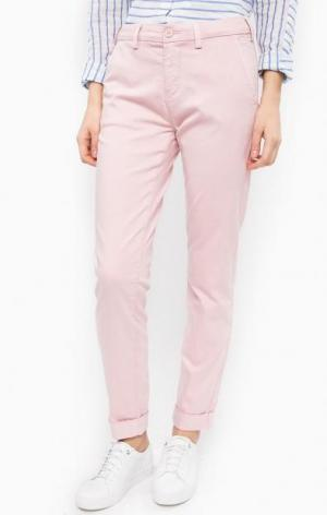 Зауженные брюки чиносы Lee. Цвет: розовый