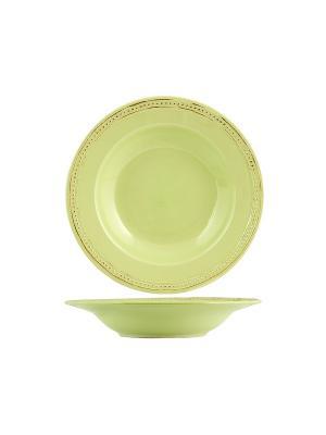 Набор тарелок суповых АЛЕСИЯ H&H. Цвет: салатовый