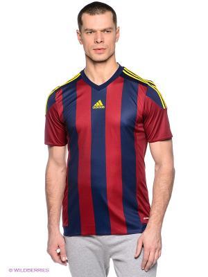 Футболка STRIPED 15 JSY Adidas. Цвет: бордовый, синий