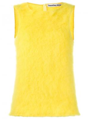 Вязаный топ без рукавов Faustine Steinmetz. Цвет: жёлтый и оранжевый
