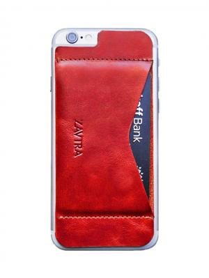 Кошелек-накладка для iPhone 6/6s ZAVTRA. Цвет: красный