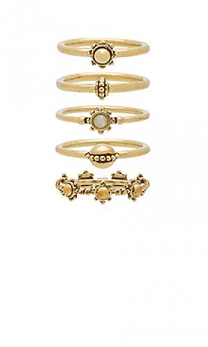 Набор колец the baroque Luv AJ. Цвет: металлический золотой