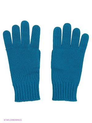 Перчатки United Colors of Benetton. Цвет: лазурный