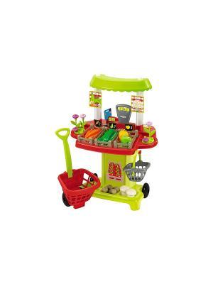 Супермаркет овощной, 54,5*40*69см, 1/4 Ecoiffier. Цвет: зеленый, красный