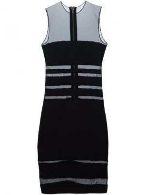 Платье с прозрачными вставками Alexandre Vauthier. Цвет: чёрный