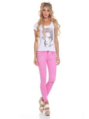 Джинсы DSHE. Цвет: розовый