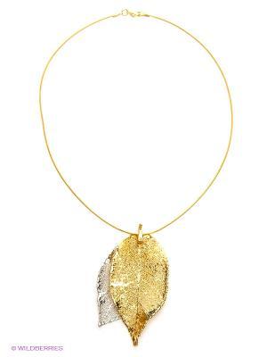 Колье Ester Bijoux. Цвет: золотистый, серебристый