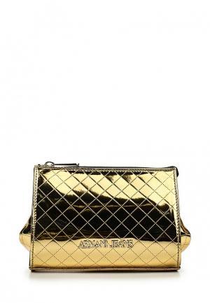 Сумка Armani Jeans. Цвет: золотой