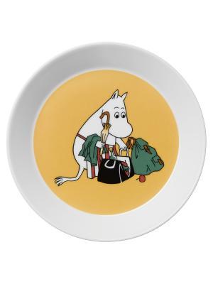 Тарелка Муми-мама Arabia. Цвет: белый