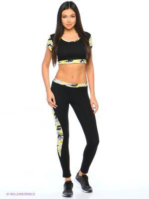 Спортивный костюм FORLIFE. Цвет: черный, желтый