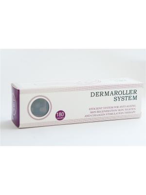 Дермороллер System DRS 180 игл (для области глаз, волос), модель DRS25(0,25 мм). Цвет: красный, белый